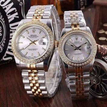 """Rolex"" luxury fashion diamond lover diamond quartz watch F"