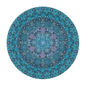 Stunning Boho Intricate Blue Snowflakes Cutting Boards