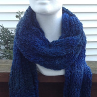 Blue Holiday Christmas Winter Knitted Sacrf