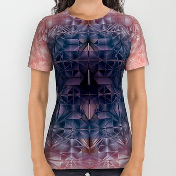 Crystal radial pattern All Over Print Shirt by VanessaGF