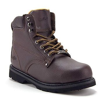 Men's 622S Genuine Leather Steel Toe Outdoor Construction Safety Work Boots
