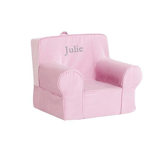 Pottery Barn Pink Chair: Pink Velvet Anywhere Chair