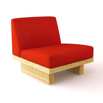 Modern Bamboo Sofa, Bamboo Float Armless Chair | Viesso