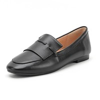 Leisure Driving Shoes Flat-soled Leather Women Shoes
