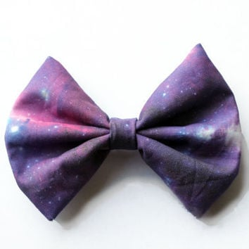 Galaxy Printed Hair Bow SM or L  version 3 by BiancaParisTaylor