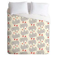 Allyson Johnson Elephant love Duvet Cover