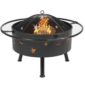 "Best Choice Products 30"" Fire Pit cooking Grill FireBowl Outdoor Patio Fireplace Garden Stove Firepit"