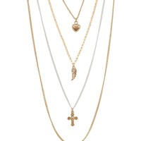 Layered Charm Long-Strand Necklace