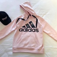 adidas women fashion hooded top pullover sweater sweatshirt hoodie-4