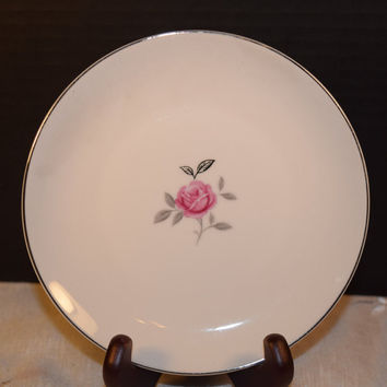 Gildhar Petite Rose Salad Plate Vintage Fine Porcelain China Petite Rose Pattern Made in Japan Holiday Dinnerware Shabby Chic Dishes