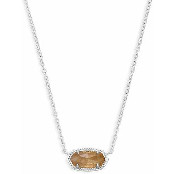 Kendra Scott: Elisa Silver Pendant Necklace In Citrine