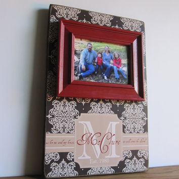 Family Name Sign - Family Name Established Sign - Weddings Name Sign Gift - Personalized Name Sign - Name Sign Wood -  Createframes