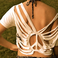 CUSTOM Boho Cut Top - Swim Suit Cover