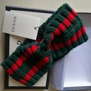 ICIKUN2 GUCCI Wool Web headband