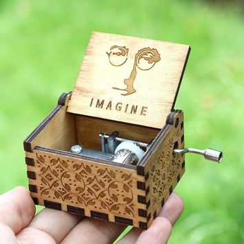 Star Wars Force Episode 1 2 3 4 5 Imagine John Lennon  Hand Crank Music Box Davy Jones  Theme Music Box Birthday Present AT_72_6