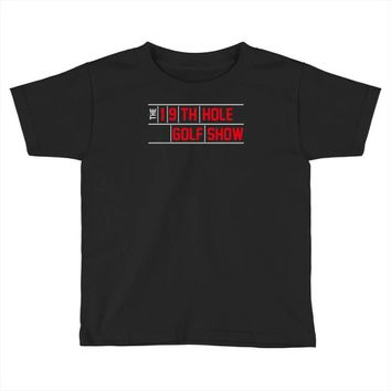 my best round is the 19th hole funny golf drinking Toddler T-shirt