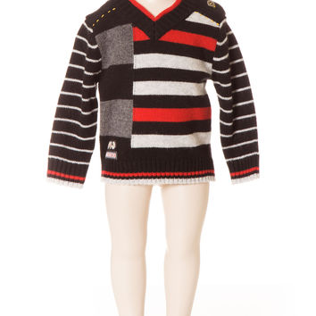 Deux Par Deux Super 8 Boy's Sweater Striped