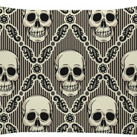 Diamond Tiled Skull Pillow Case