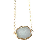 Ania White Druzy Necklace