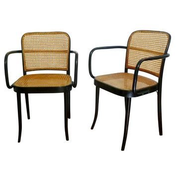 Pre-owned Thonet Prague No. 811 Stendig Bentwood Chairs-Pair