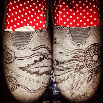 8c228d4d096 Dreamcatcher Custom Painted Toms Price includes by SweetHeartShoes