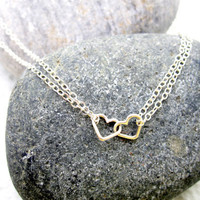Sterling Silver Heart Necklace Valentines Gift by pearlatplay