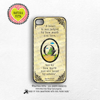 A heart is not judged Oz quote iPhone case 4/4S-Oz quote iPhone 5/5S-A heart is not judged Oz quote iPhone 6-Oz S4/S5-by Natura Picta-NP129