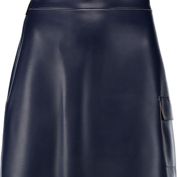 MSGM Faux leather mini skirt – 60% at THE OUTNET.COM