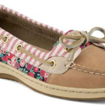 Sperry Top-Sider Angelfish Liberty Floral Print Slip-On Boat Shoe Linen, Size 12M  Women's Shoes