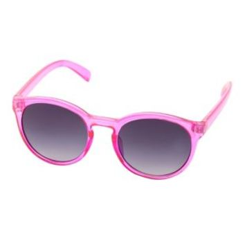 Pink Round Plastic Sunglasses by Charlotte Russe
