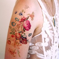 Large Vintage Floral Temporary Tattoo II | Party Accessories | Accessories | Ohh Deer