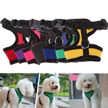 Adjustable Comfort Soft Breathable Dog Harness Pet Vest Rope Dog Chest Strap Leash Set Collar Leads Harness   MTY3