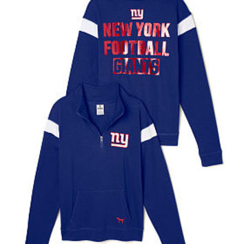 New York Giants Bling Boyfriend Half-Zip - PINK - Victoria's Secret
