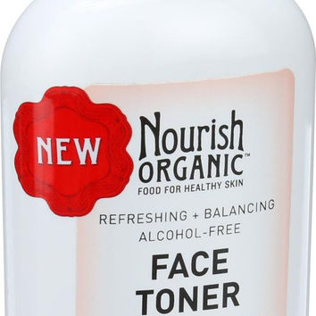 Nourish Organic Face Toner - Refreshing And Balancing - Rosewater And Witch Hazel - 3 Oz