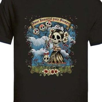 Day Of The Dead Sugar Skull Tattoo T-Shirt - 2 Colors