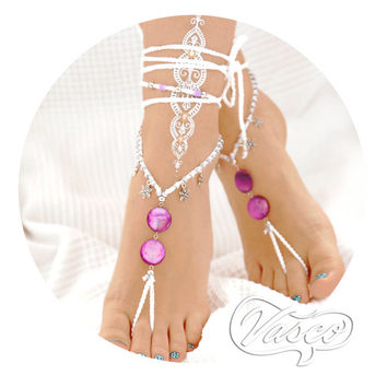Barefoot Sandals. Lilac Bridal Barefoot Shoes. Purple Mother Of Pearl. Lilac Gift For Her