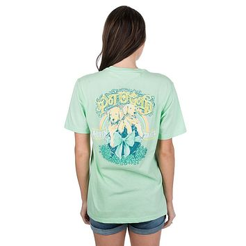 Pot O'Gold Puppy Tee in Green Ash by Lauren James
