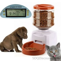 LCD Display Smart Feeder Pet Food Dispenser With Dish Bowl