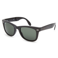 Ray-Ban Folding Wayfarer Sunglasses Glossy Black One Size For Men 20394318001