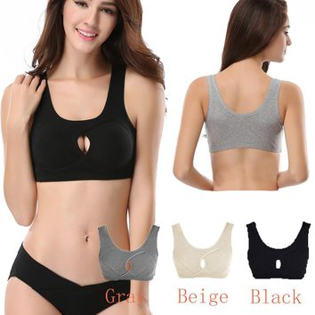 Black Beige Gray Women Sports Bra Top Athletic Seamless Push Up Yoga Bras Padded Running Shockproof Workout Tank Vest M L XL