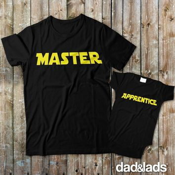 Master and Apprentice Matching Father Son Shirts