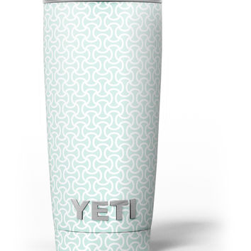 The Mint and White Axed Pattern Yeti Rambler Skin Kit