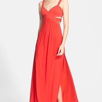 Women's Jay Godfrey 'Evander' Cutout Silk Gown,