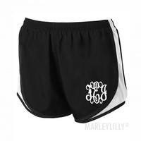 Monogrammed Running Shorts | Marleylilly