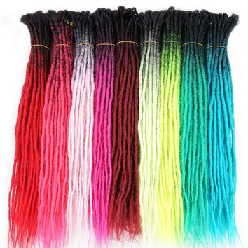 Silky Strands 5 Strands Synthetic Handmade Dreadlocks Ombre Kanekalon Reggae Crochet