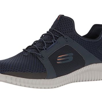 Skechers Sport Men's Navy/Orange Elite Flex Fashion Sneaker
