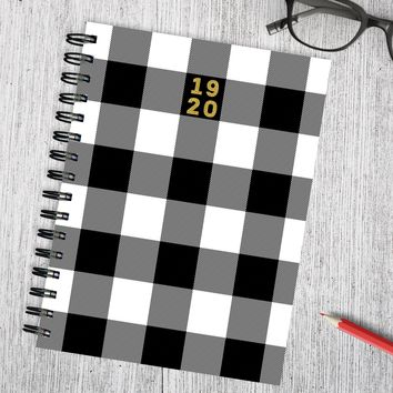 Classic Plaid Medium Academic Weekly/Monthly Planner