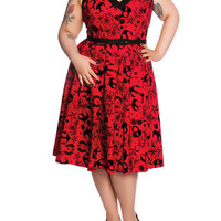 Hell Bunny Liv Red Dress 2XL-4XL