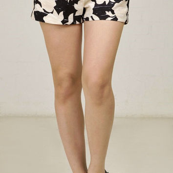 Floral Silhouette Shorts