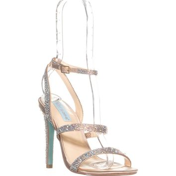 Blue by Betsey Johnson Aubry Heeled Sandals, Champagne, 7.5 US